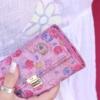 ausgefallene damen geldbörsen pink blumen