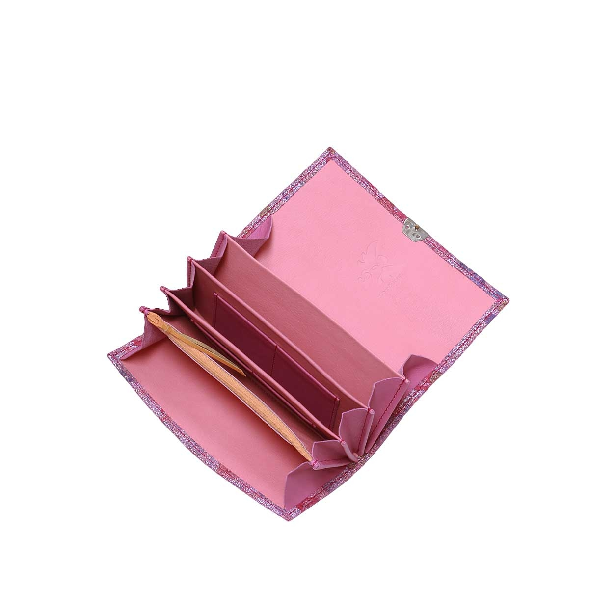 Wildleder Geldbörse Rosen Purple XL