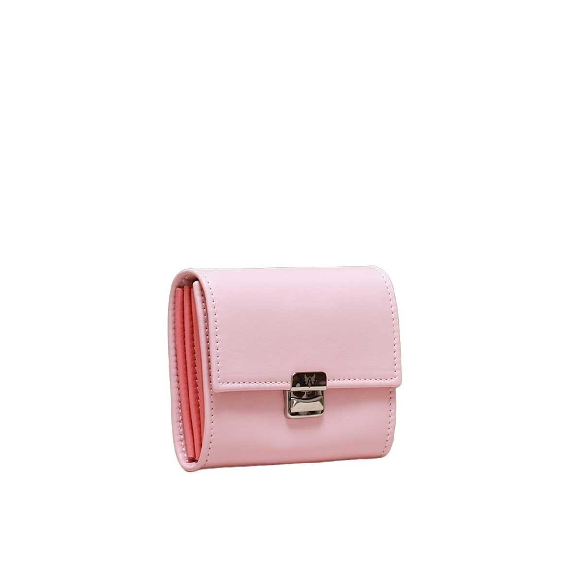 besondere damen geldbörsen rosa echtes leder