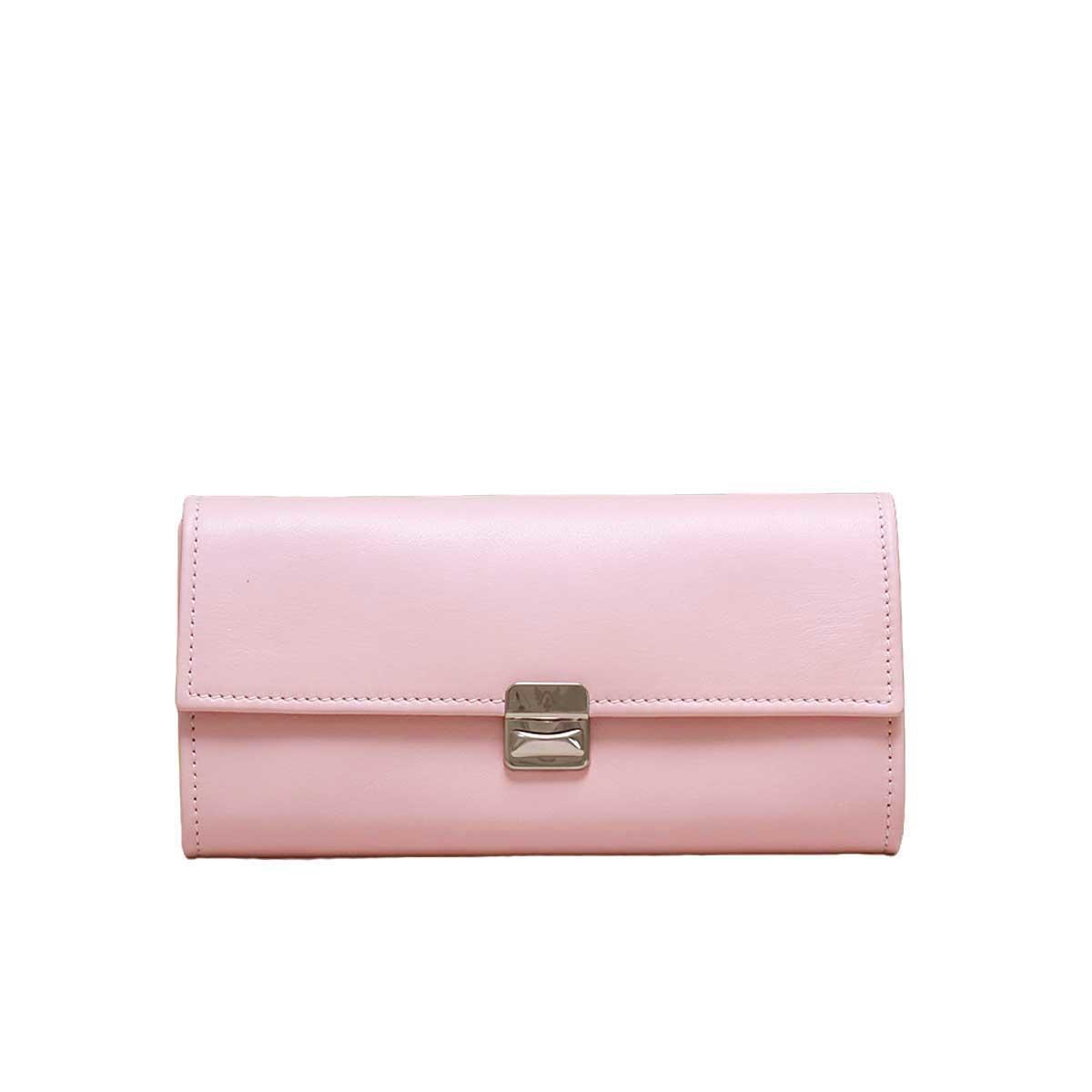 Extra grosse Leder Geldbörse Hellrosa Rosa XL