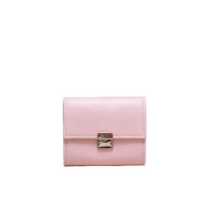 Kleine Damen Leder Geldbörse Hellrosa Rosa S