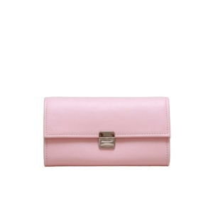 moderne damen geldbörsen rosa leder handgemacht
