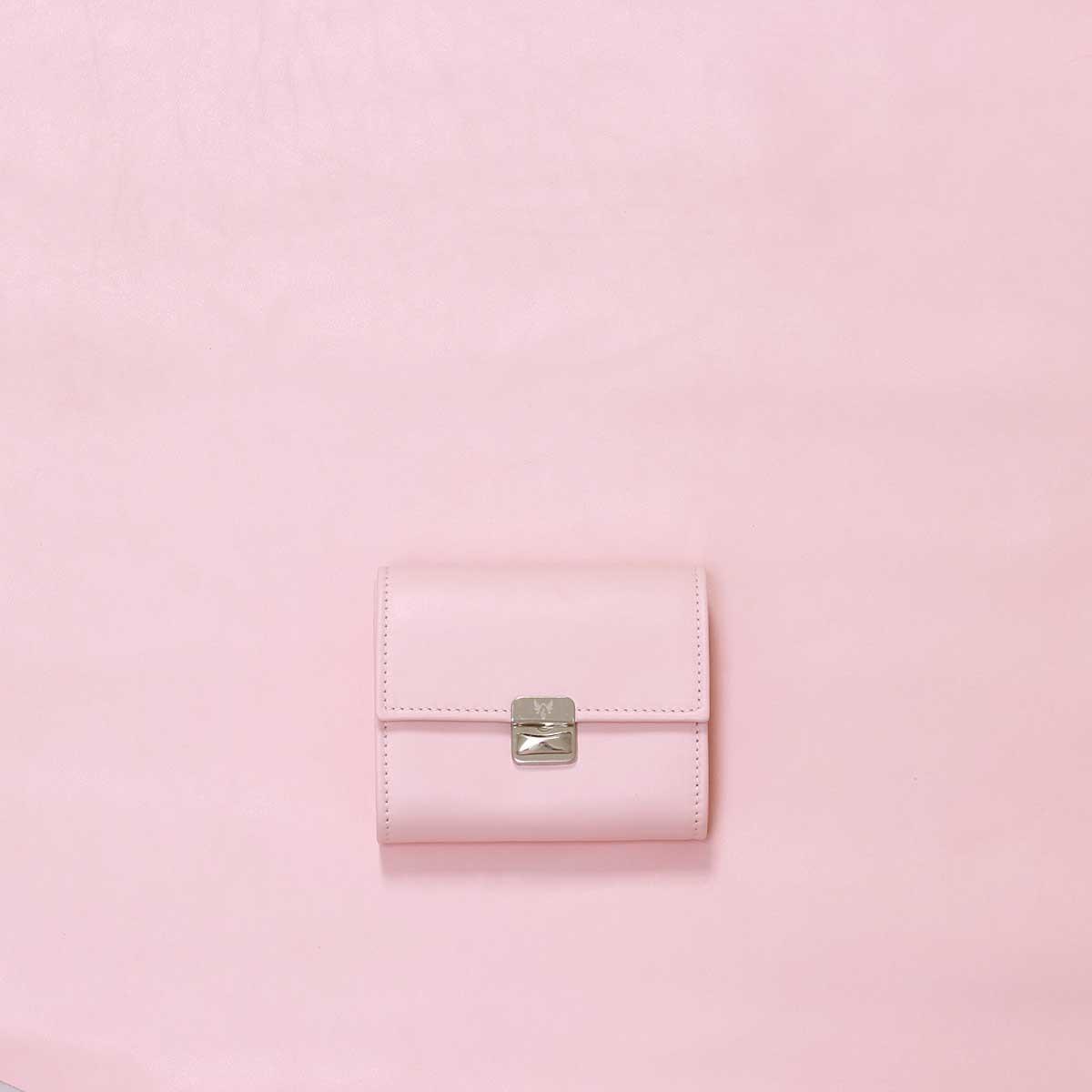 ausgefallene gelbörsen leder rosa