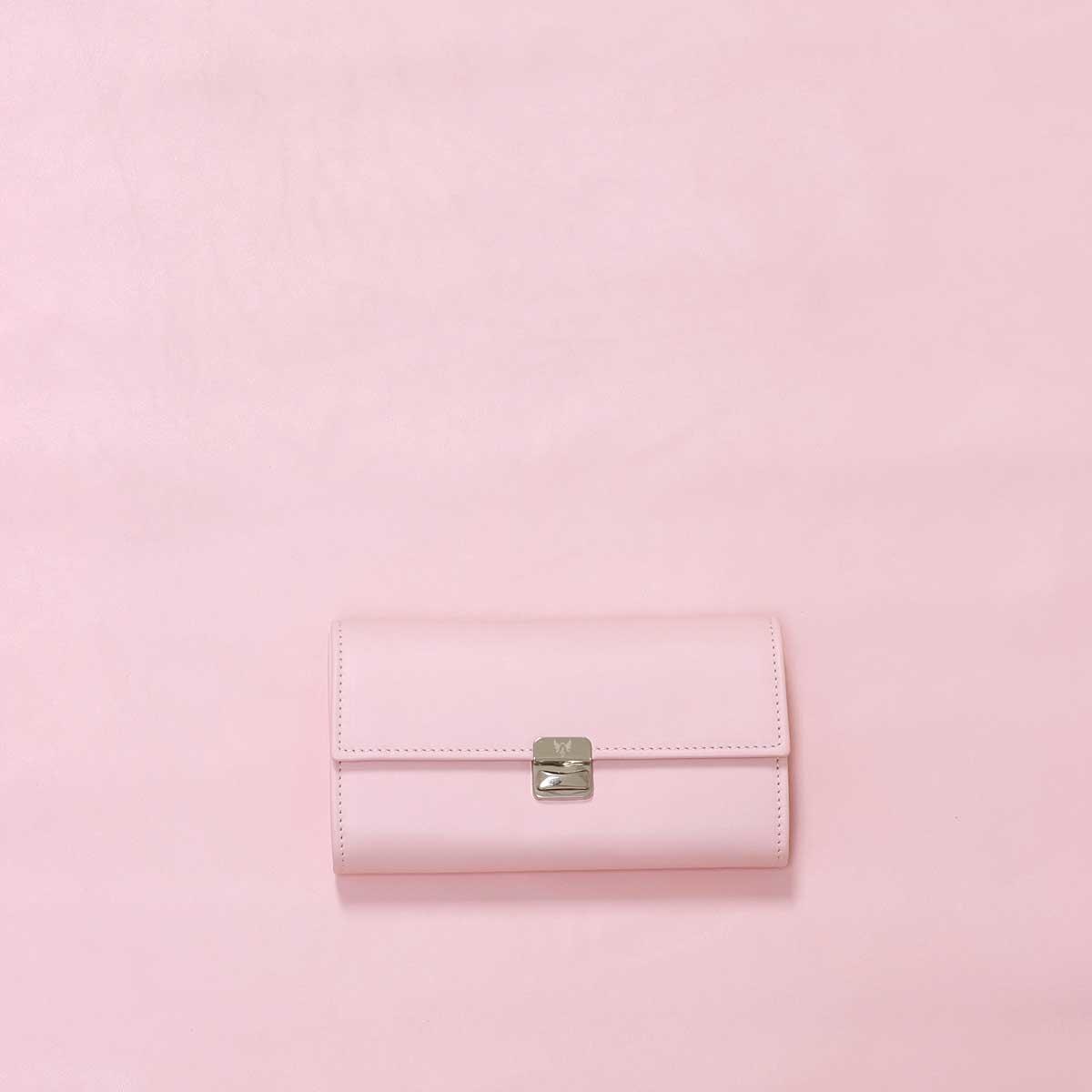 besondere hochwertige leder geldbörsen rosa