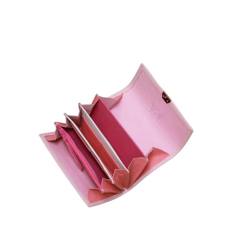 leder geldbörsen großes kleingeldfach rosa