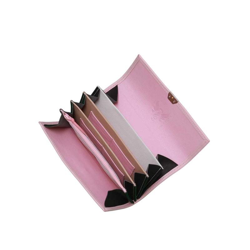 ausgefallene rosa leder portemonnaies damen elfenklang