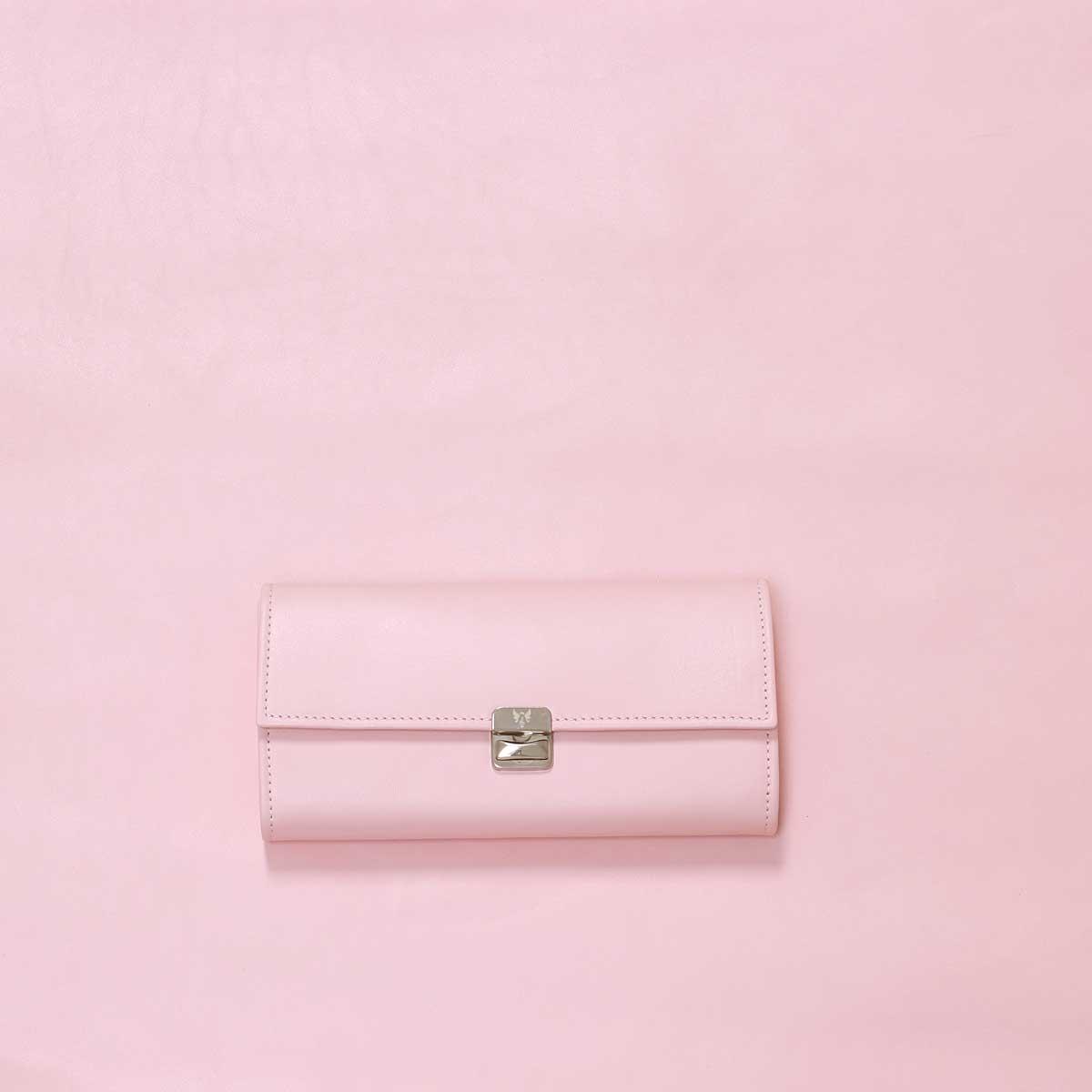 rosa damen leder portemonnaie mit viel platz
