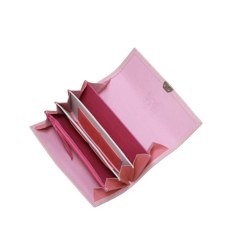 rosa leder geldbörse damen hochwertig