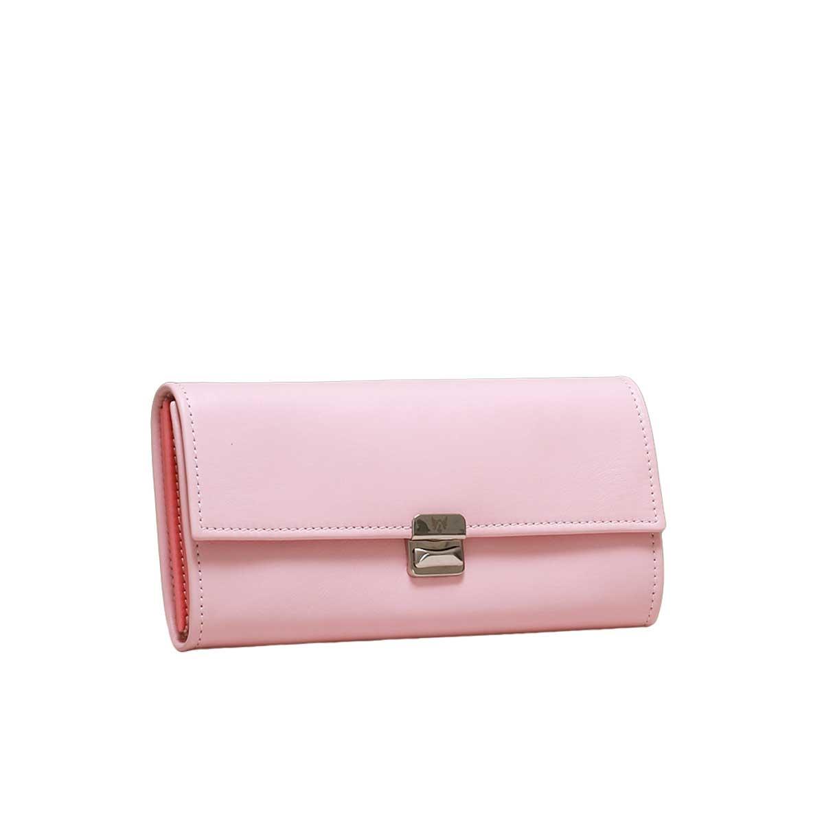 stylische damen geldbörsen aus echtem leder rosa