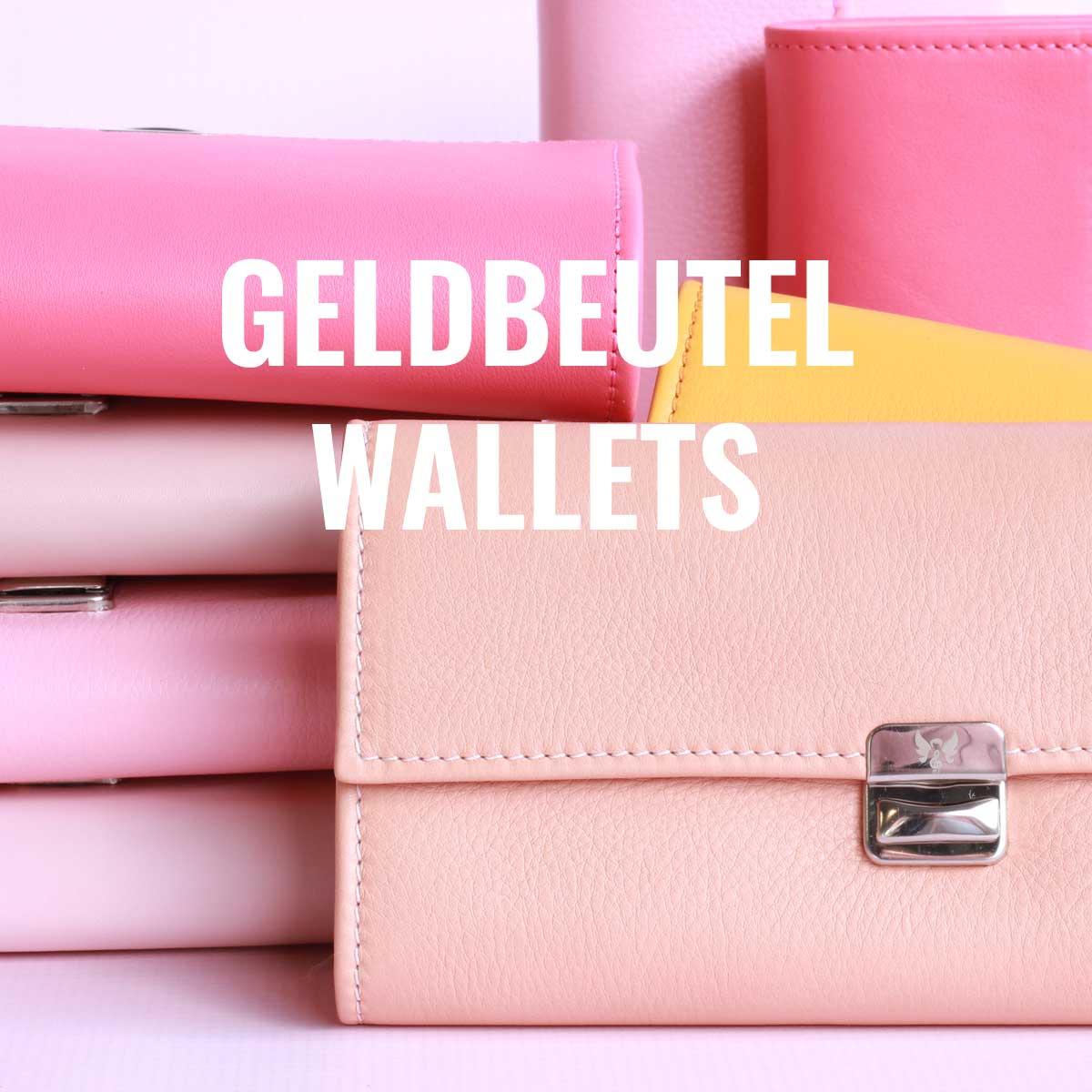 rosa leder geldbörsen von elfenklang