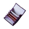 farbenfrohe geldbörsen leder lila