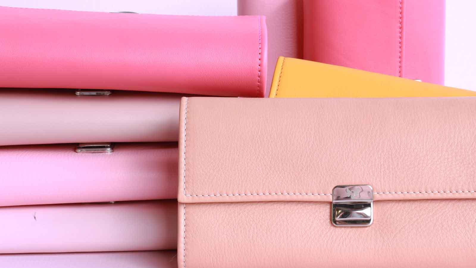 rosa leder portemonnaies kaufen elfenkalng