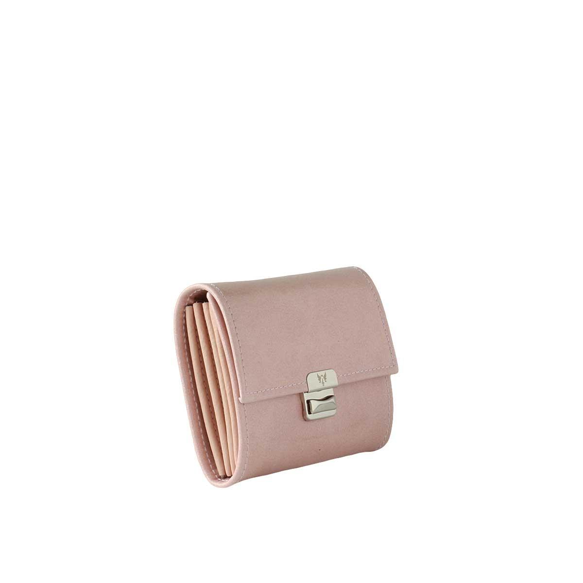 Kleines Leder Portemonnaie Blush Glanz S