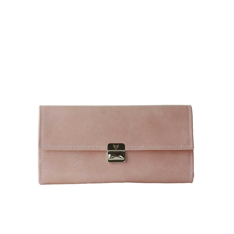Extra grosse Damen Geldbörse Blush Glanz XL