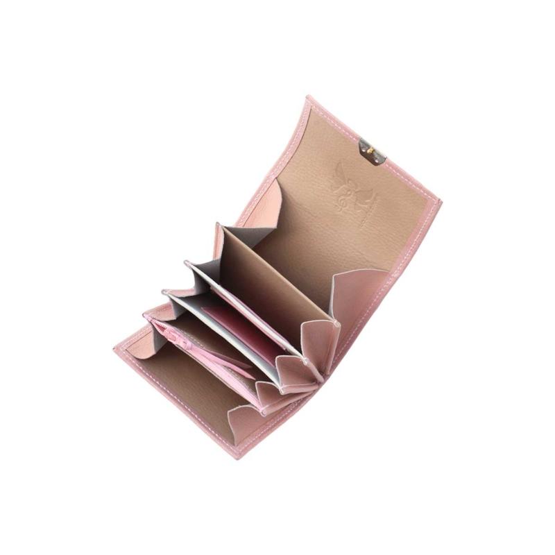 kleine leder geldbörse rosa blush nude