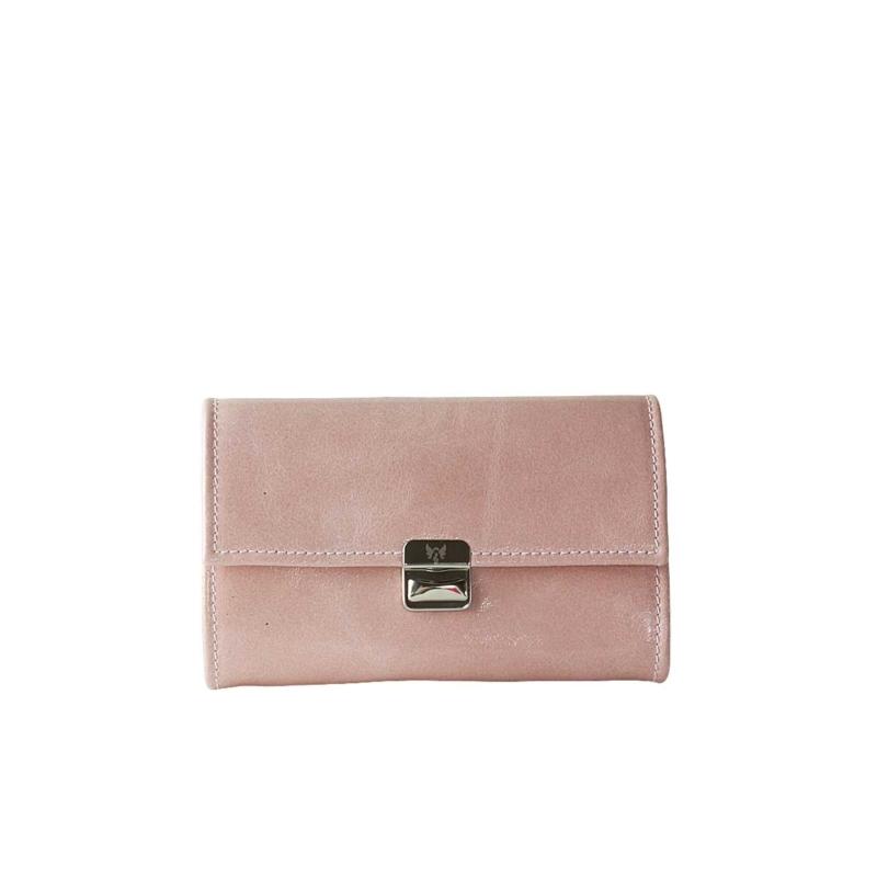 edle damen portemonnaies leder rosa blush