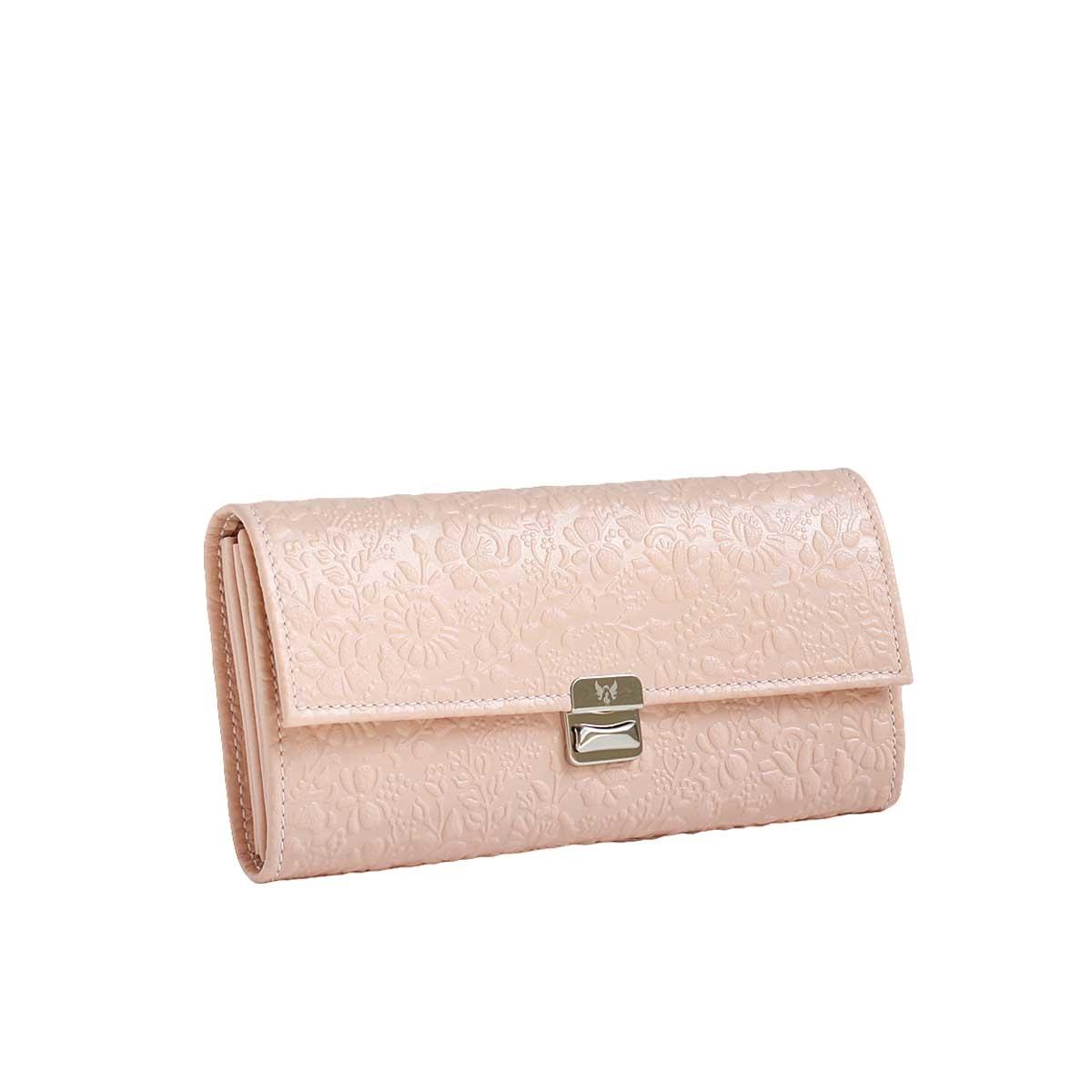 ziehharmonika geldbörsen leder puder rosa