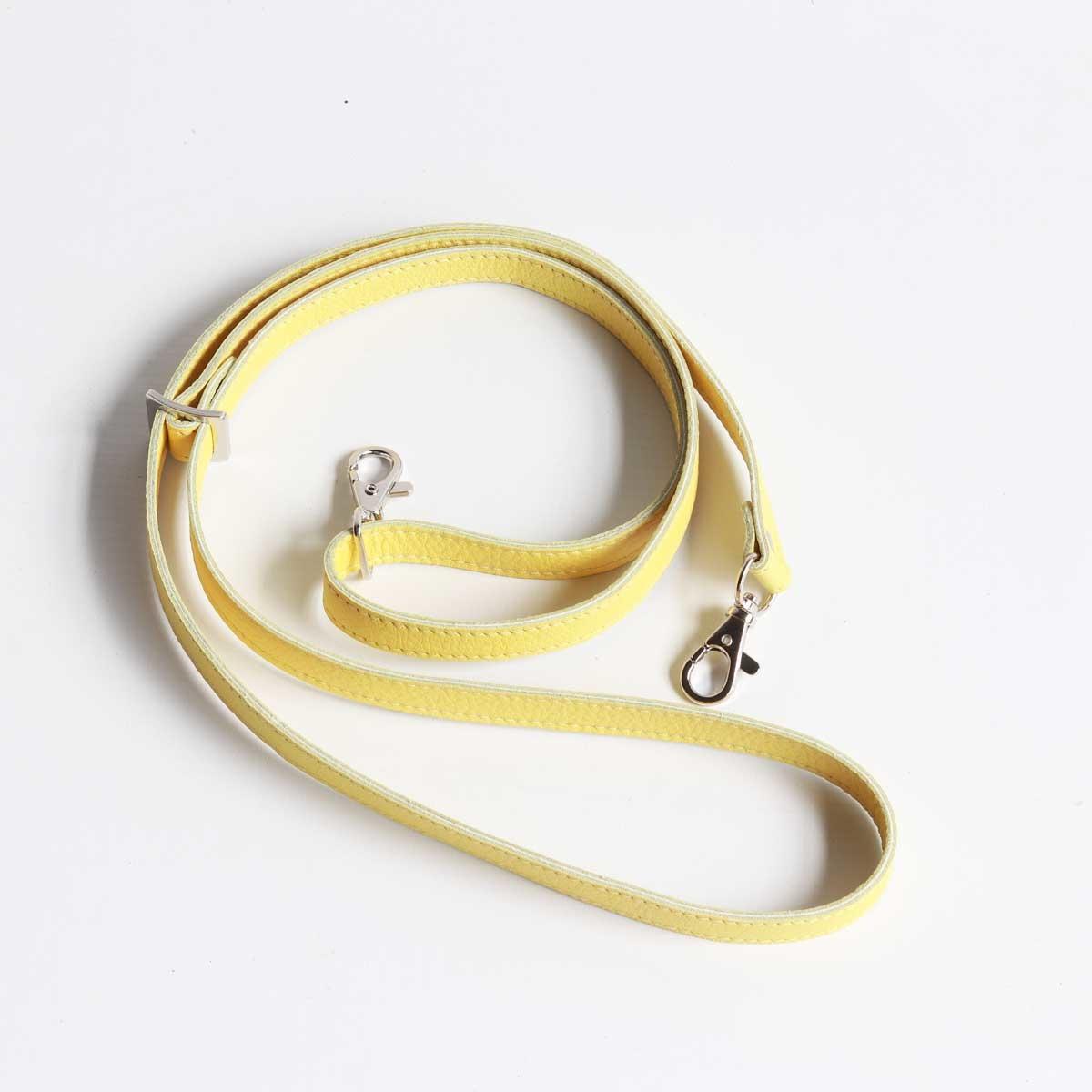 riemen für taschen lang leder gelb
