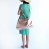 kurztrip handtasche leder rosegold