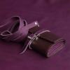 ausgefallene geldbörsen umhängetaschen riemen lila leder