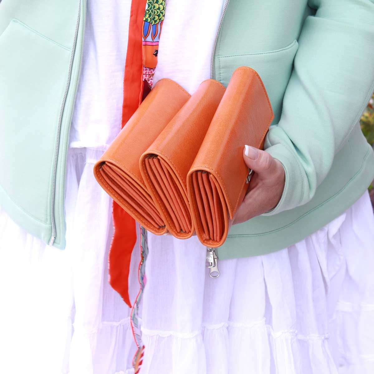 elfenklang kelnnerbörsen orange leder kaufen
