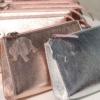 pouch leder silber rosegold elfenklang