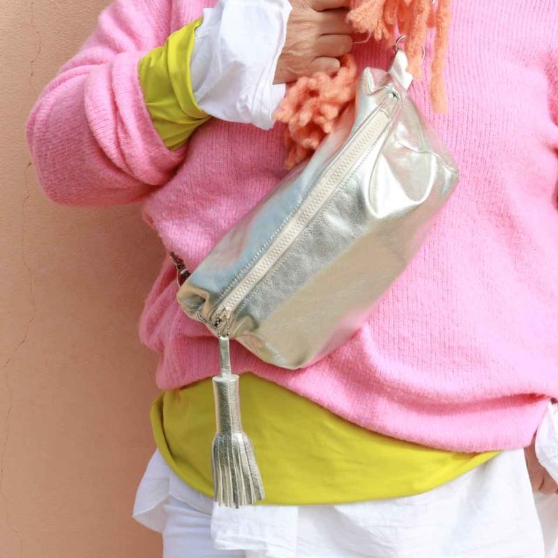 bauchtaschen brusttaschen cool modern silber elfenklang