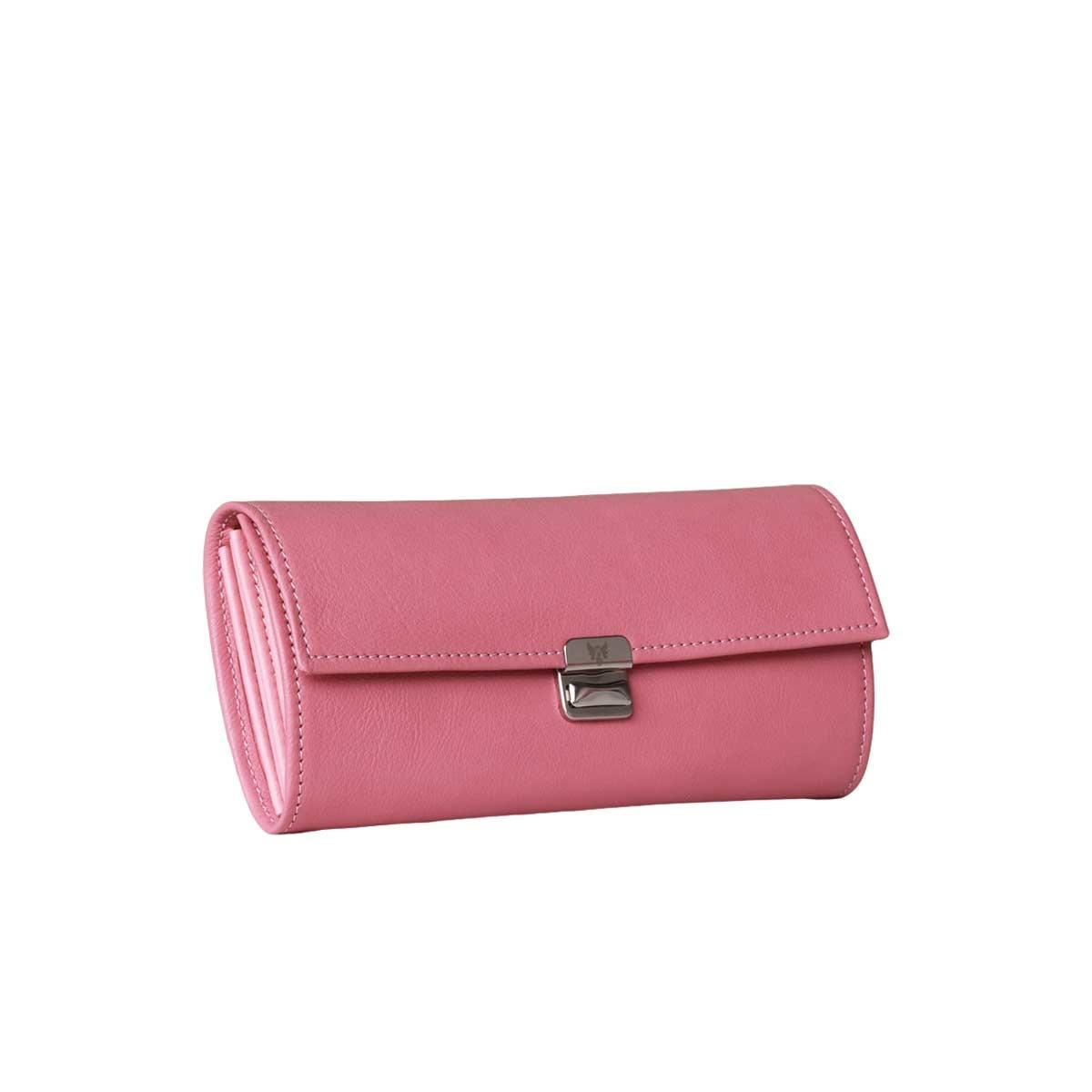 lange leder geldbörsen echtleder rosa kaufen
