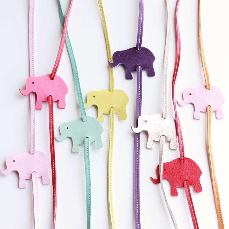 elfenklang lederarmband zum wickeln mit elefanten