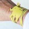 Lederarmband Elefant Gelb