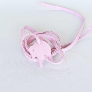 lederarmband elefant rosa
