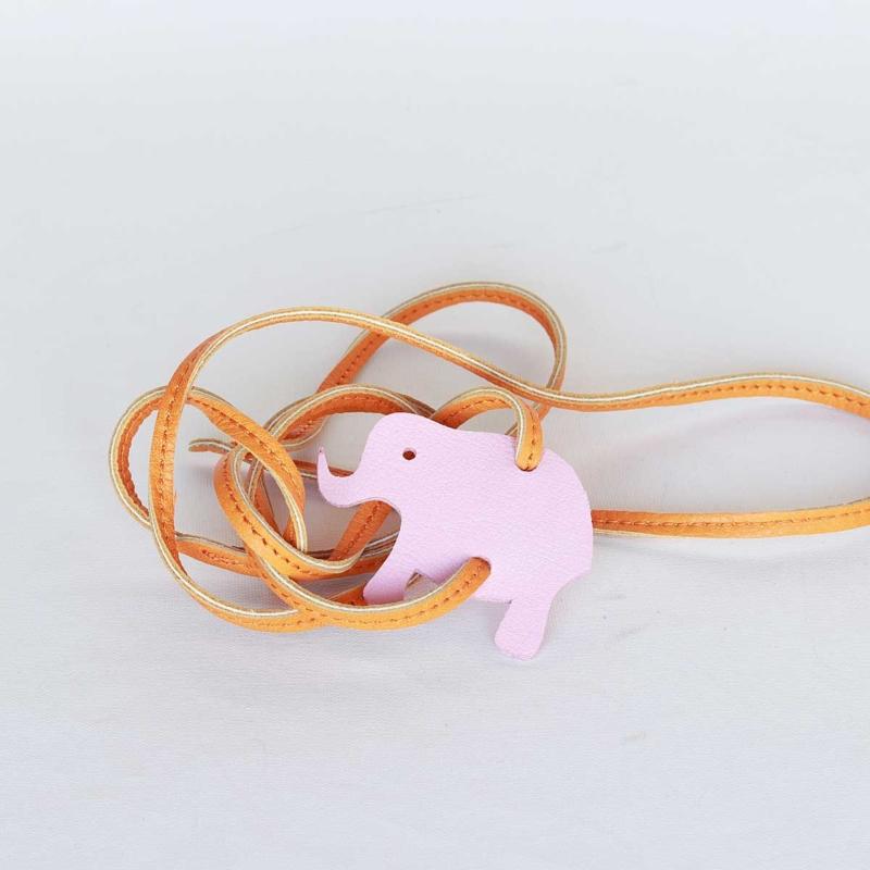 lederarmband elefant rosa orange