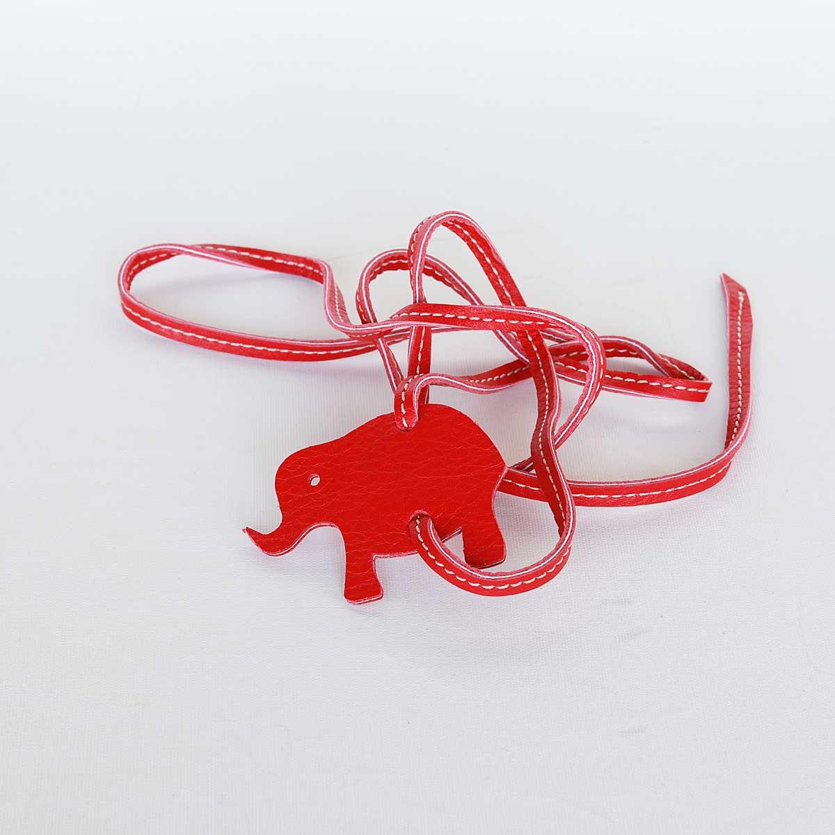 lederarmband elefant rot zum wickeln