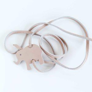 lederarmband elefant beige