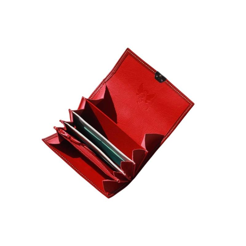 ausgefallene damen portemonnaie leder rot