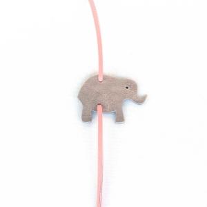 Elefant Lava Glitzer Malve aus Leder