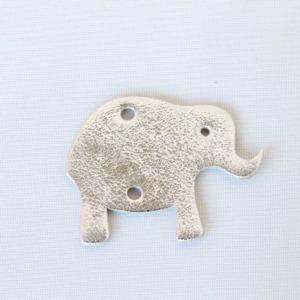 Elefant Silber aus Leder