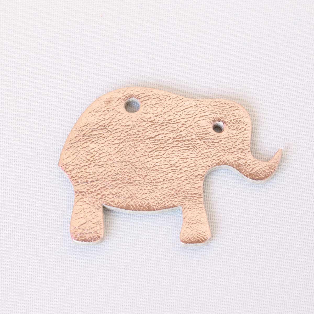 elefant rosegold aus leder
