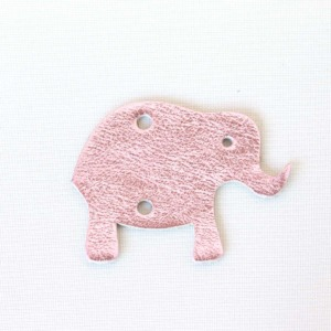 Elefant Rosa Glitzer Leder