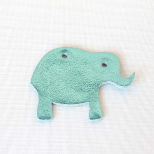 Elefant Blau Glitzer aus Leder