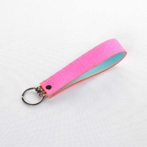 elfenklang schluesselanhaenger lederband neon pink schlange