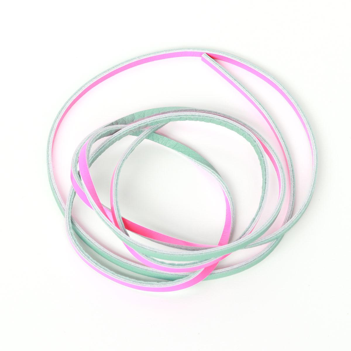 Lederband Anis Neon Pink