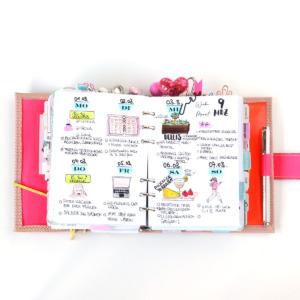 personal wide planer einlagen horizontal weeklys
