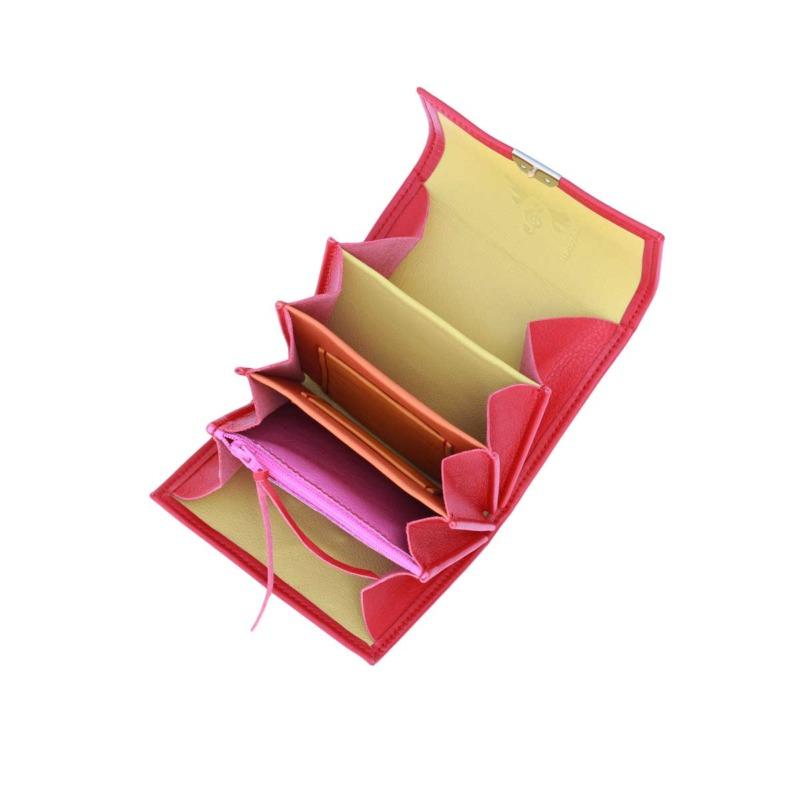 besondere kleine damen portemonnaies rot
