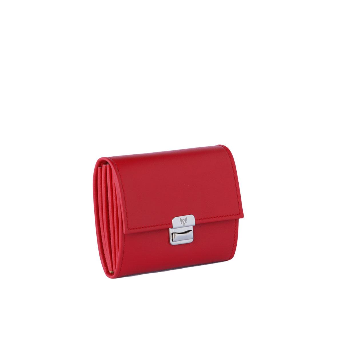 Leder Portemonnaie Santa Red S