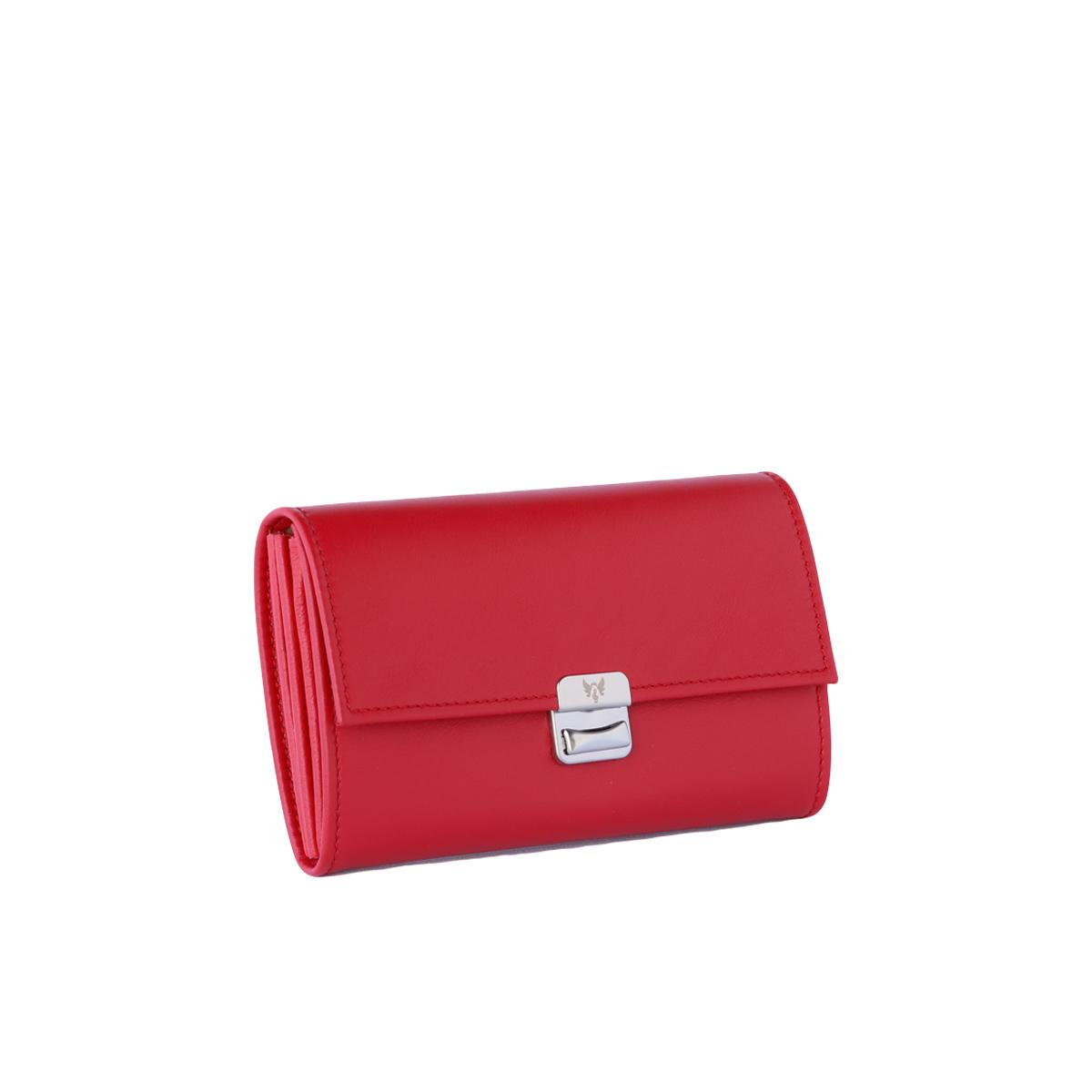 Leder Portemonnaie Santa Red M