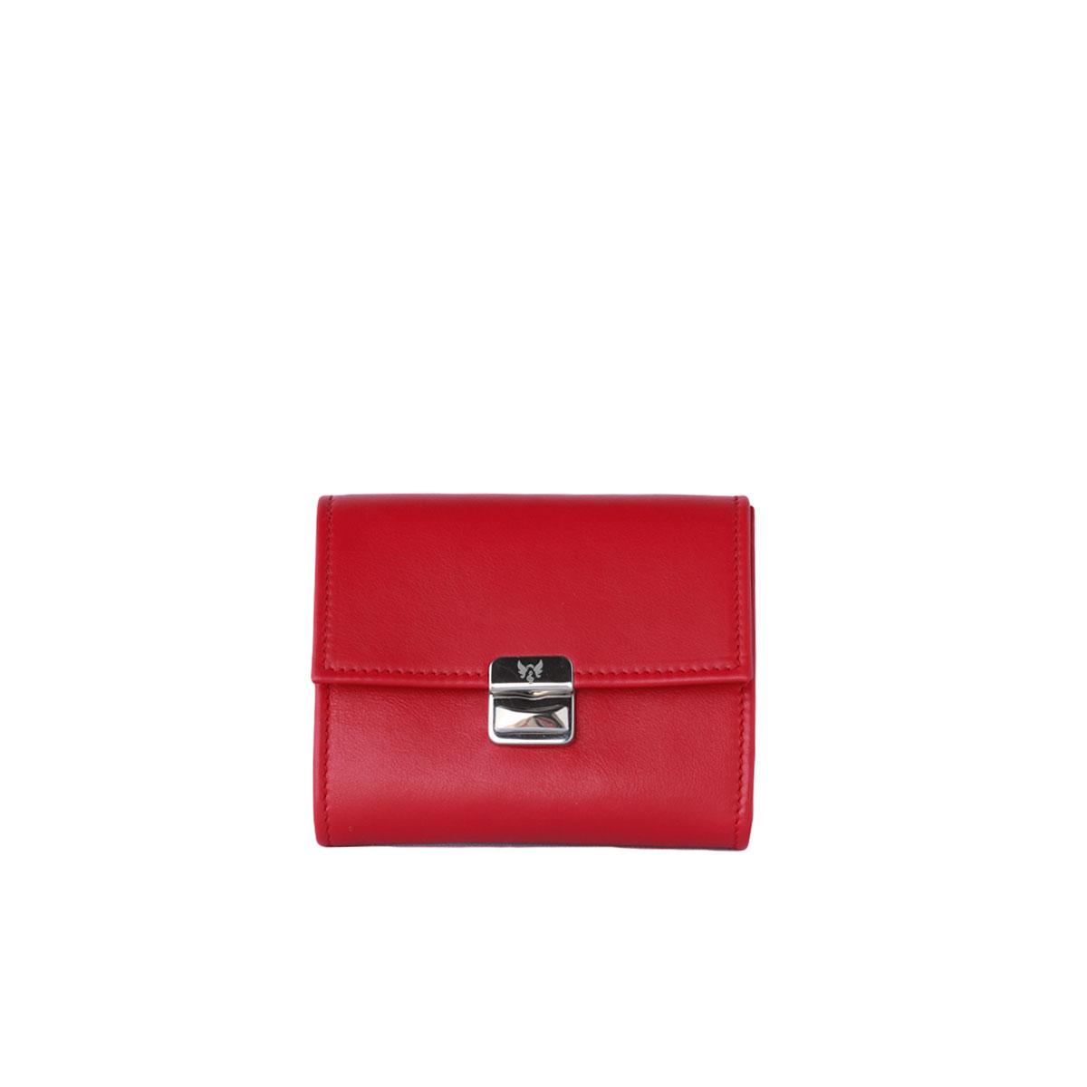 rotes portemonnaie mit viel platz fächern großes münzfach