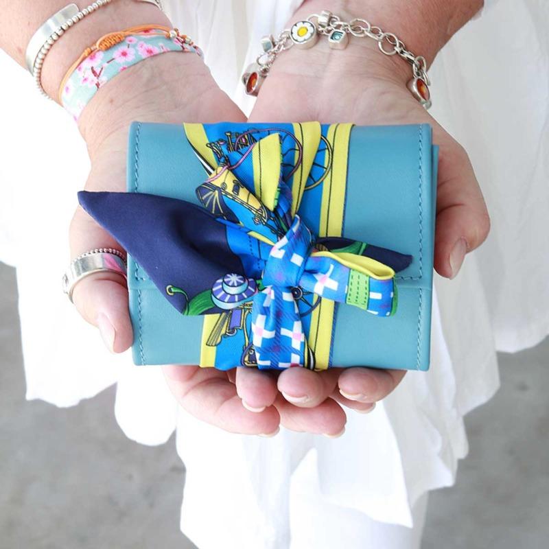 damen portemonnaies leder blau klein handgefertigt elfenklang kaufen