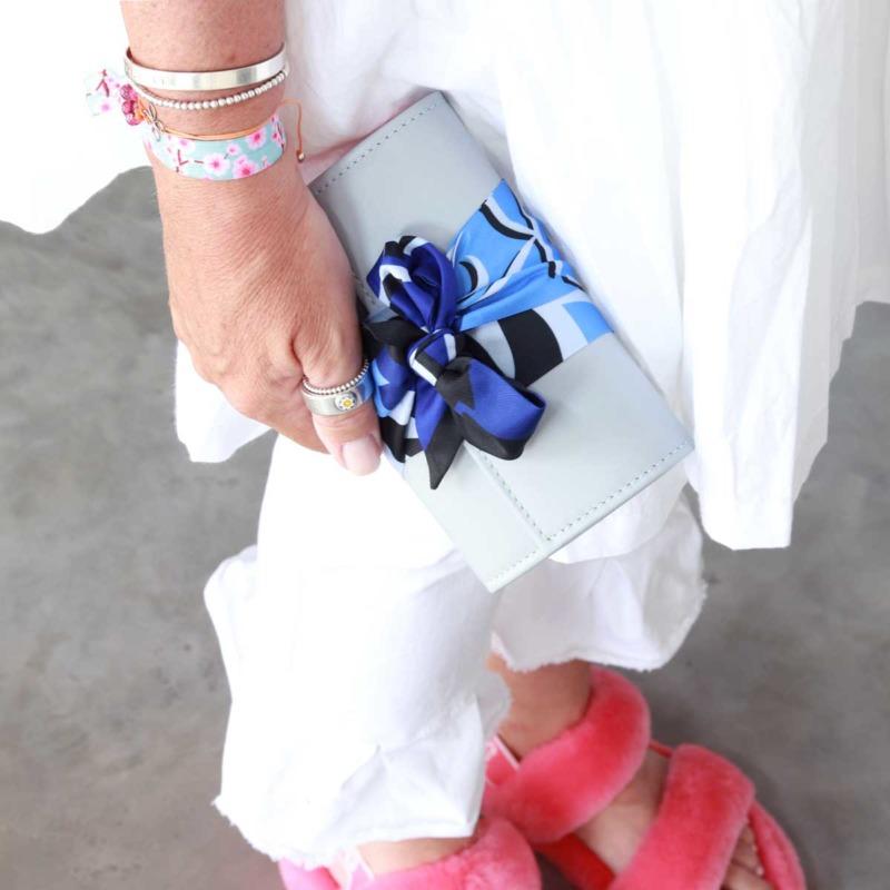 elfenklang portemonnaies damen leder blau