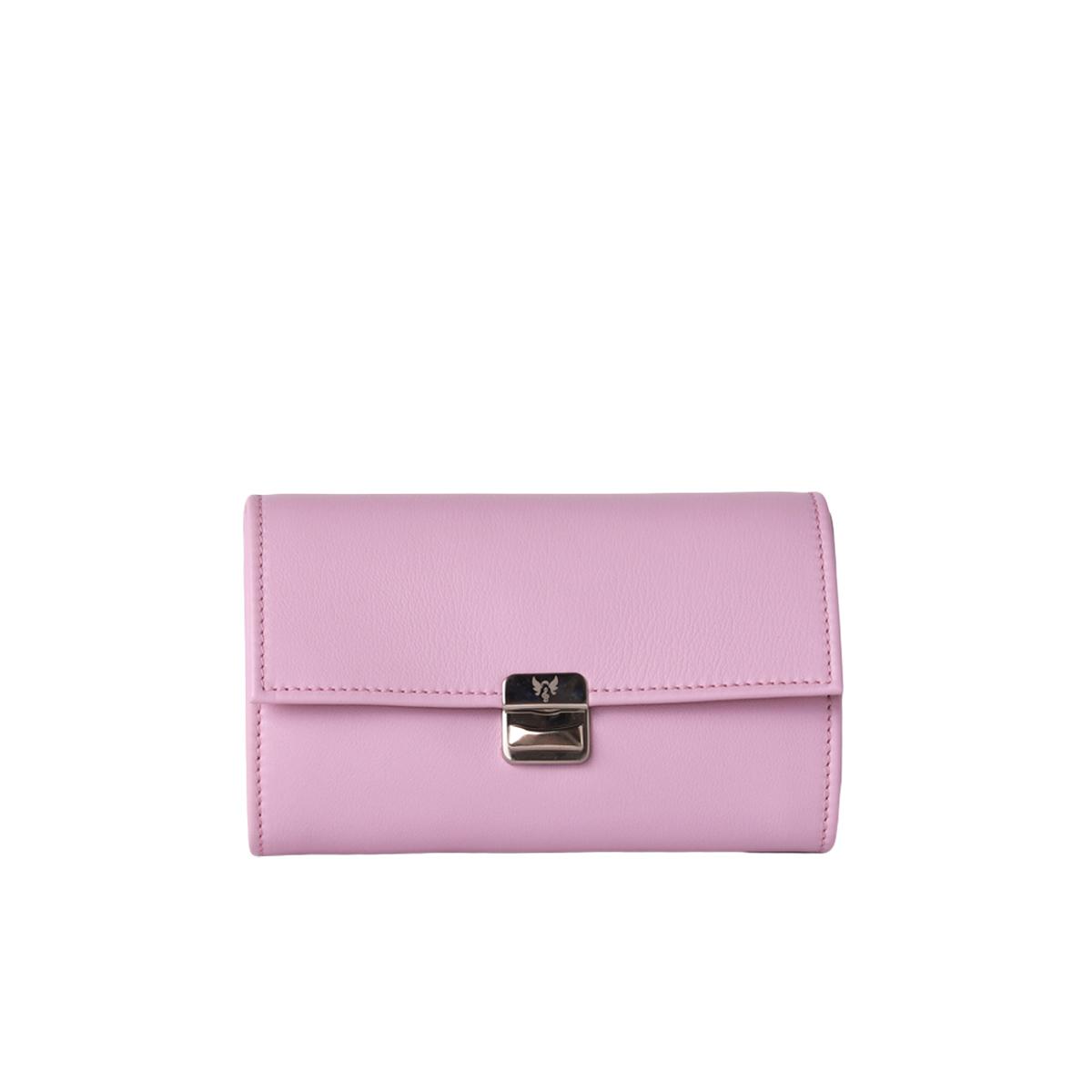 lila damen portemonnaie lange form
